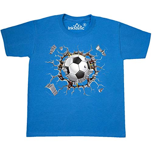 (inktastic - Soccer Youth T-Shirt Youth Medium (10-12) Pacific Blue 2646d)