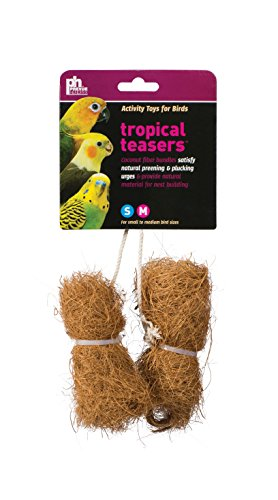 Prevue Pet Products BPV62091 2-Pack Tropical Teaser Coco Bundles Bird Toy