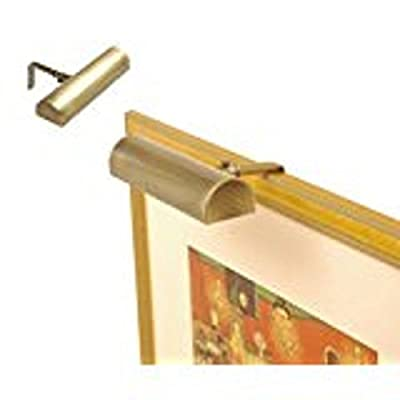 Concept Lighting 201 Ultra Efficient Cordless Picture Light, 7-3/4-Inch, Brass