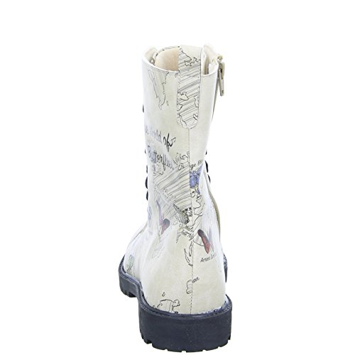 DOGO World Beige The ZIPSY Stiefel Butterflies Schnürboots Schmetterling of Damen 4Haq4WSg