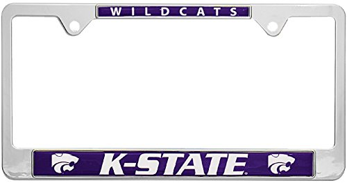 Kansas License Plate - All Metal NCAA Mascot License Plate Frame (Kansas State)