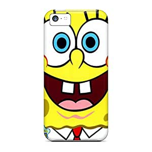 Snap-on Spongebob Squarepants Case Cover Skin Compatible With Iphone 5c