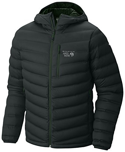 Ripstop Hooded Down Jacket (Mountain Hardwear StretchDown Hooded Jacket - Men's Dark Forest)