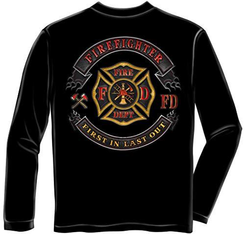Firefighter Polo   Firefighter Biker MC Long Sleeve T Shirt ADD-FF2397LSXL