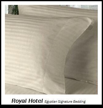 Royal's Striped Tan 300-Thread-Count 4pc King / Californi...