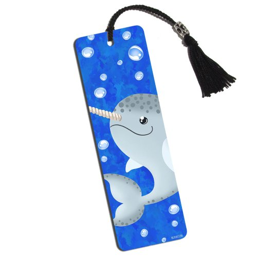 Gnarly Narwhal Printed Bookmark with Tassel