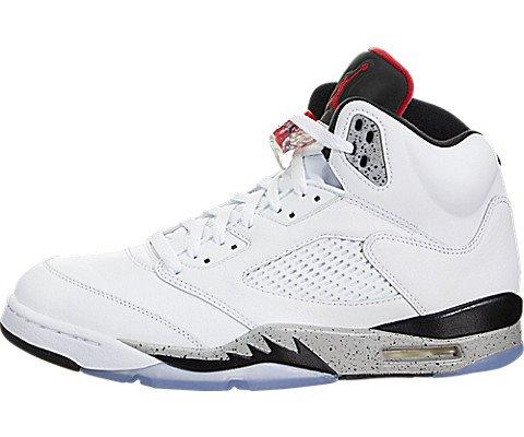 Jordan Air 5 Retro Red Suede Lifestyle Casual Sneakers University Red/Black New 136027-602