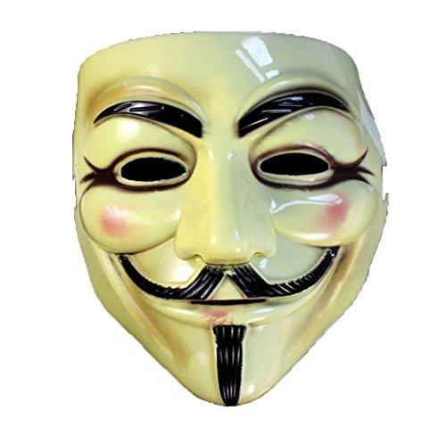 Usstore Halloween Masquerade Face Mask V For Vendetta Fawkes Fancy Dress Party Toy For Kid Baby Child Christmas Gift Toy (V For Vendetta Makeup)