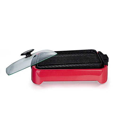 MiniInTheBox Aluminum Electric Indoor Reversible Grill Pan with Non-stick Surface Professional Level Cookware (M)