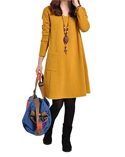 Vintage Dress Femme O Robes De Dentelle Grande Longue Prom Boho De Party Sundress Robe Cocktail Taille Tunique Chemise Soiree Col Jaune Plage Maxi 8qwqrzxZX