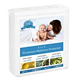 Allo Waterproof Mattress Protector, Slip-Resistant Leak Proof Bed Cover, Cotton Fitted Terry Cover, Soft Quiet and Breathable (Twin White)