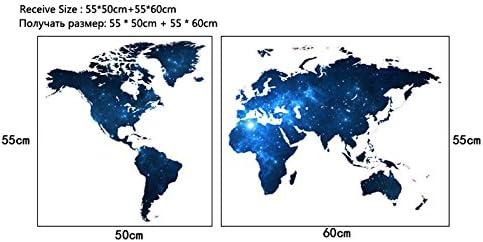 Weaeo Creative Star Mapa del Mundo DIY Vinilo Adhesivo De Pared A Los Ni/ños Les Encanta La Decoraci/ón del Hogar Oficina Adhesivos Arte para 3D Pegatinas Decoraci/ón Papel Tapiz