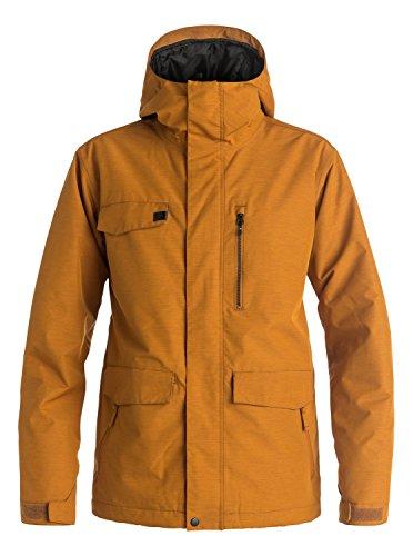 Quiksilver Snow Men's Raft 17 Jacket, Pumpkin Spice, Large