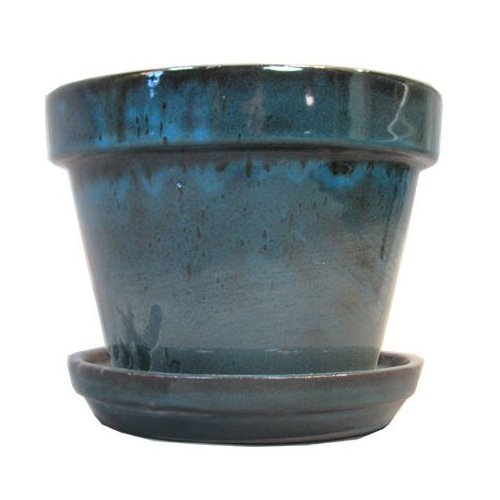 Amazon.com: Border Concepts 11931 Standard Pot with Attached Saucer,  4-3/8-Inch, Tropical Blue: Patio, Lawn & Garden - Amazon.com: Border Concepts 11931 Standard Pot With Attached