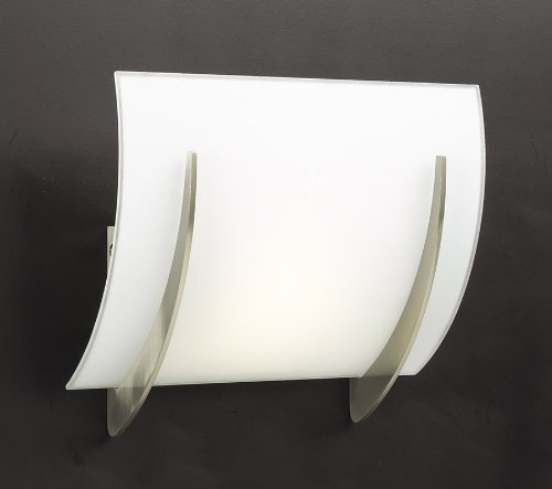 (PLC Lighting 6559 SN 1-Light Wall Sconce Lisette Collection, Satin Nickel Finish)