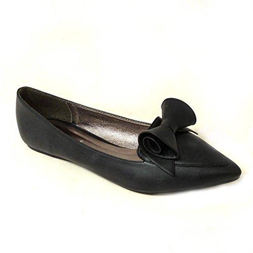 SKOS , Damen Ballerinas Black Matt (jyx-1)