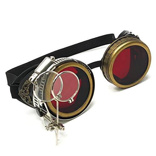 Handmade Steampunk Victorian Style Goggles with Vintage Filigree Decoration, Costume Novelty Accessory]()