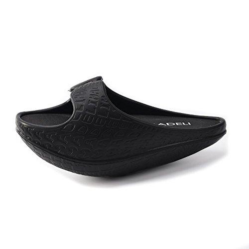 SHANGXIAN Stovepipe adelgazar pierna belleza pie EVA Body Shaper zapatillas sandalia Fitness de las mujeres post-parto tonificación zapatos Black