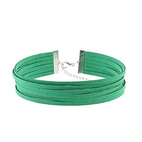 (Molyveva Velvet Chokers Necklaces Classic Plain Chokers Ribbon Gothic Collar for Women Girls Hot Pepper)