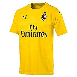 Puma 2018-2019 AC Milan Home SS Goalkeeper Football Soccer T-Shirt Maillot (Yellow)