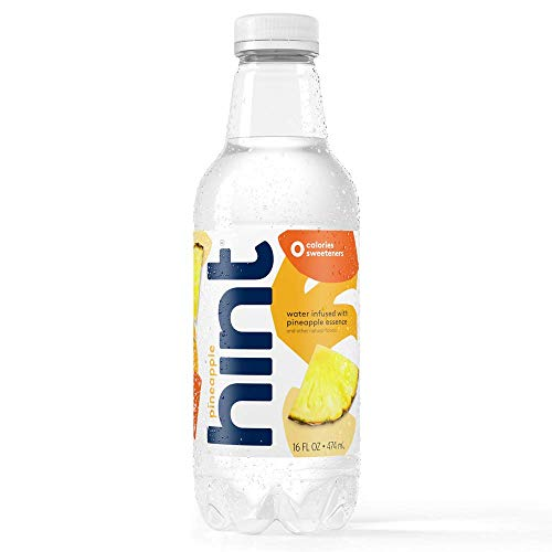 Hint Water Pineapple (Pack of 12) 16 Ounce Bottles, Pure Water Infused with Pineapple, Zero Sugar, Zero Calories, Zero Sweeteners, Zero Preservatives, Zero Artificial Flavors
