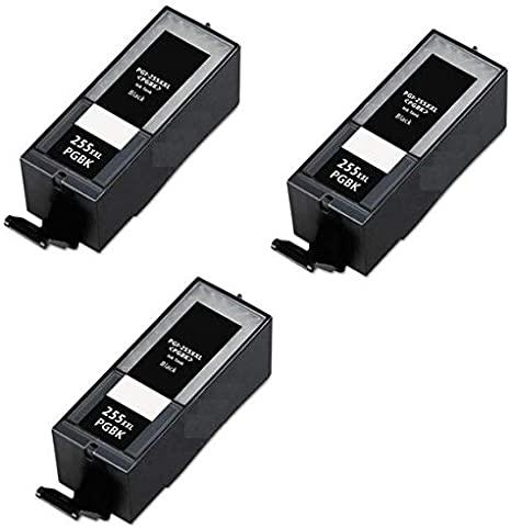 3//PK-800 Page Yield PGI-555XX/_3PK SuppliesMAX Compatible Replacement for Canon PIXMA IX-6850//MX-722//922//925 Black Extra High Yield Pigment Inkjet