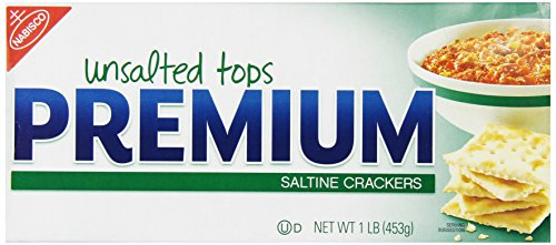 Premium Saltine Crackers, (Unsalted Tops, 16-Ounce Box)