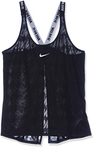 Nike Mesh Tank Top - Nike Women's Dri-FIT Elastika Training Tank Top, Multicolor (Black/Black/Cool Grey), M