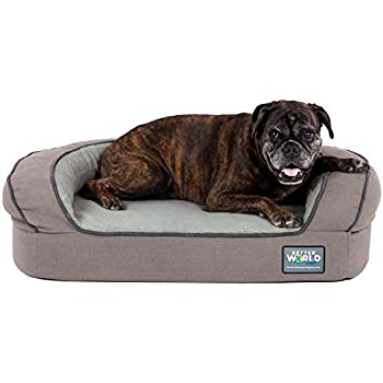 e9f24e13302 Better World Pets Super Comfort Bolster Dog Bed    Waterproof Memory Foam  Pet Bed with