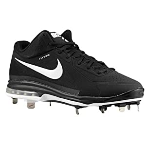 Nike Men's Air Max MVP Elite 3/4 Metal Baseball Cleats - Size: 11.5, Anthracite/black/silver