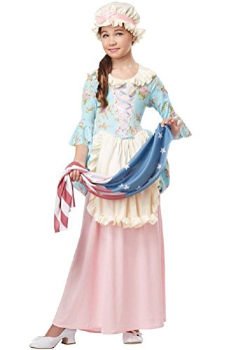 [POPLife Betsy Ross Colonial Lady American Flag Child Costume] (Betsy Ross Hat)