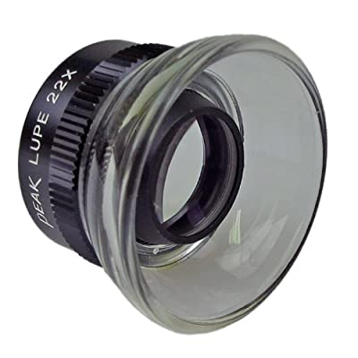 """PEAK TS1964 Fixed Focus Loupe, 22X Magnification, 0.75"""" Lens Diameter, 0.4"""" Field View from Start International"""
