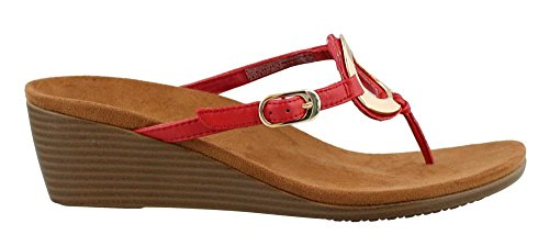 Women's Park Orchid Vionic Toepost Wedge Red fHqxdAwg