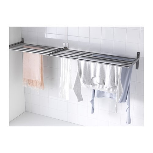 IKEA GRUNDTAL Drying rack, wall, stainless steel