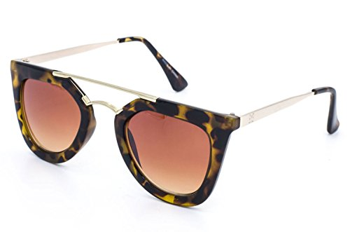 Eyesome Women's Metal Square Vintage Sunglasses EYE Styled 48 mm (Tiger Vintage Sunglasses)