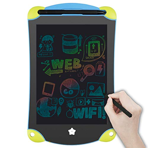 ZOMFOM Colorful LCD Writing Tablet Board Pad, 8.5'' Electronic Drawing Pad, Portable Handwriting Graphics Doodle Board for Kids(Yellow-Blue)