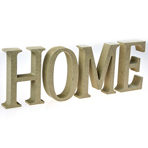 MyGift Freestanding Wood HOME Sign, Decorative Tabletop Cut-Out Letters, Brown (Tabletop Letter Decor compare prices)