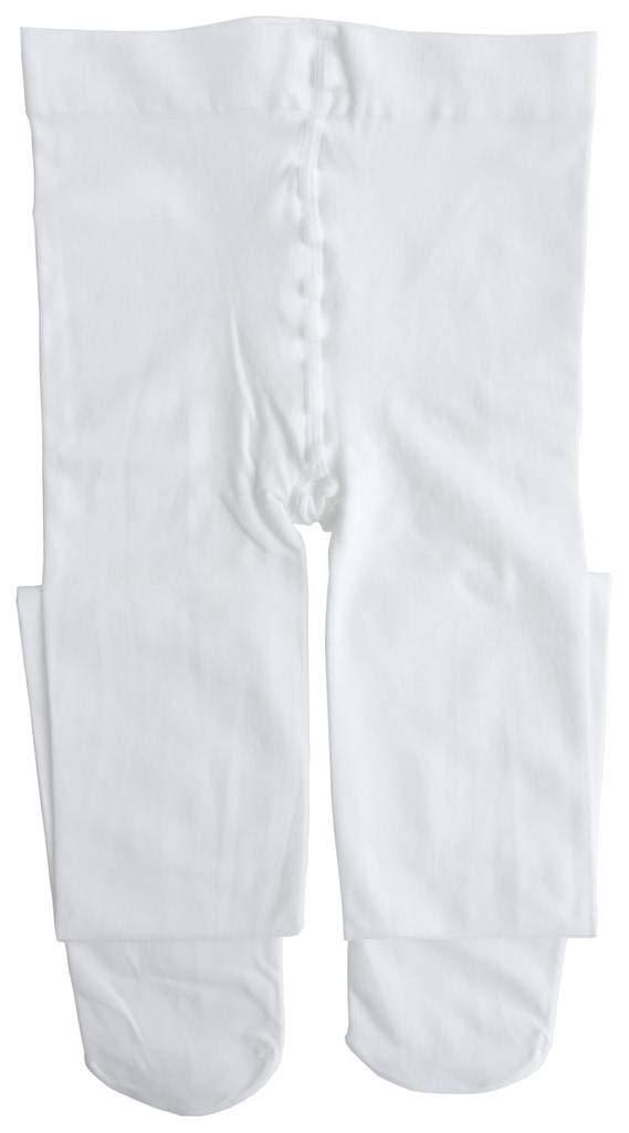 Dancina Footed Dance Tights Little Girls Cute Dress Up Soft Ballet Barre Gymnastics Hosiery S (3-5) White