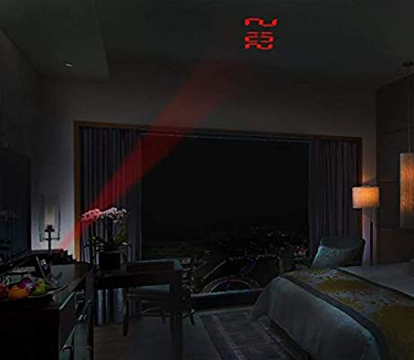 AXDNH Despertador Proyector Colorida, Techo/Pared Que Proyecta ...