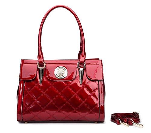 Handbag Quality Fashion Newbee Lasting Handle Long Quality High PU Premium Top Red Satchel CgxYrwPxqd