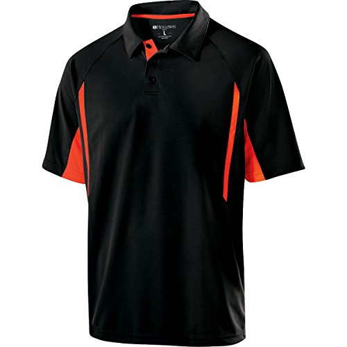 Holloway Sportswear Avenger Short-Sleeve Polo Shirt. 222530 Black / Orange ()