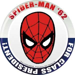 Licenses Products Marvel Comics Retro Spiderman for President Sticker
