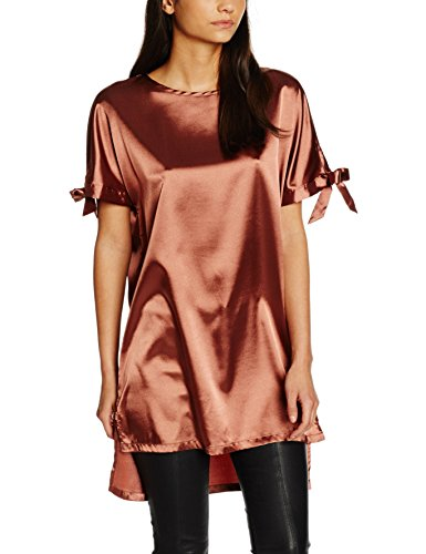 Glamorous Short Sleeved, Camiseta sin Mangas para Mujer Brown (rust Satin)