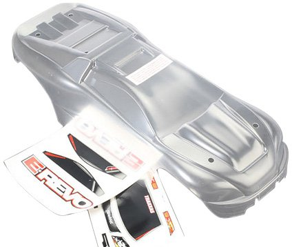 (Traxxas 5611 1/10 Scale Clear E-Revo Body with Decal Sheet)