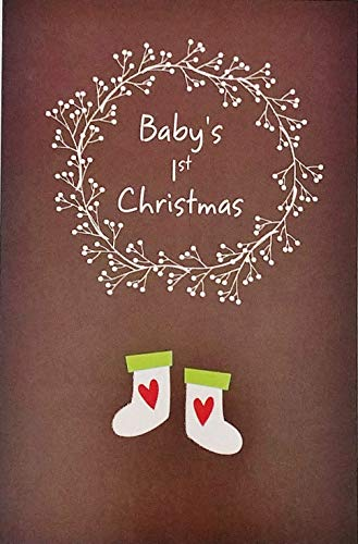 Babys First Christmas Card - Baby's 1st First Christmas Greeting - Milestone First Holiday