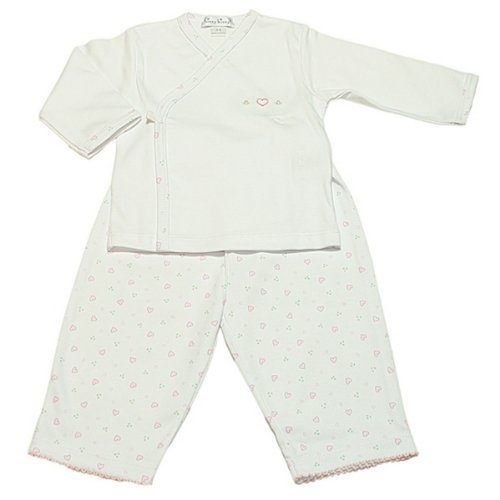 Kissy Kissy Baby Homeward Bound Pant Set W. L/s Cross Tee, Pink, 6-9 Months