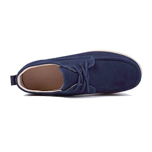Truland à Compensée Lacets Marine en Suede Bleu Semelle Chaussures Femme ranqv7gr