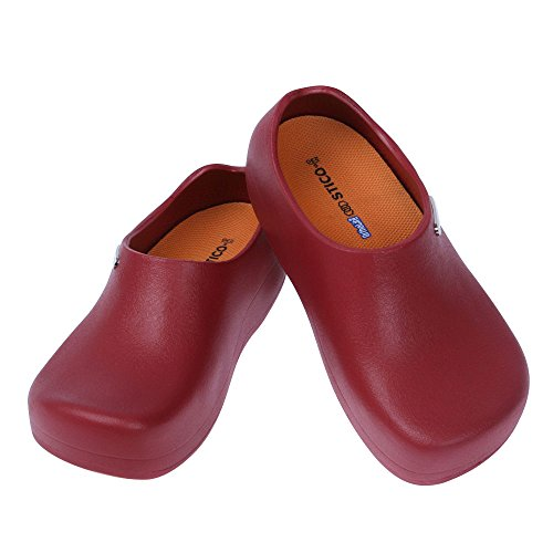 Clog Kitchen Chef Resistant Safety Men's 11 Slip Size Wine Shoes US STICO 5 dS4xw5q0S