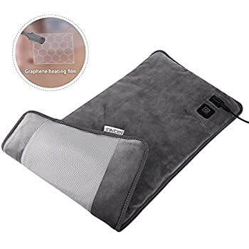 BRIGENIUS Far Infrared Electric Heating Pad for Back Pain Relief, Innovative Graphene Heating Material Fast Heating Pad for Cramps Neck Shoulder, 3 Heat Settings with Auto Shut-Off - 12