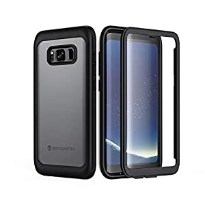 seacosmo Coque Samsung S8, Coque Galaxy S8, Integrale Antichoc Étui [avec Protège-écran] Full Body 360 Protection Ultra…